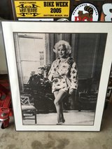 Framed pic of Marline Monroe in Camp Pendleton, California