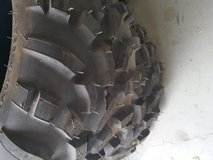 Off raod tires sied by side tires in 29 Palms, California