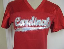 NWOT Cardinals Arizona St Louis Red Women's Lg Fitted Jersey Bling Sequins NFL Football MOM in Kingwood, Texas