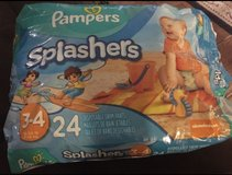 pampers splashers swing pants size 3-4 18 count in Fort Carson, Colorado