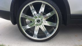 """22"""" chrome wheels and low pro tires package in Fort Benning, Georgia"""