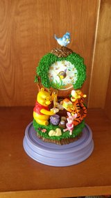 Winnie the Pooh clock with a glass cover in Lockport, Illinois