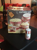 Hand painted Ceramic Popcorn Bowl Set White/red in Fort Campbell, Kentucky
