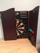 Dart Board in wood case in Fort Campbell, Kentucky