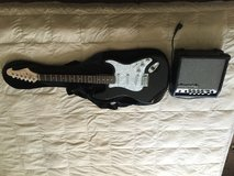 Electric guitar and amplifier in Fort Lewis, Washington