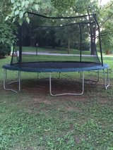 Large Trampoline with safety net and cushions in Fort Campbell, Kentucky
