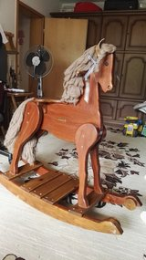 """HANDS MADE BY GRANDPA"" rocking Horse.Sturdy.Real cherry wood . in Ramstein, Germany"