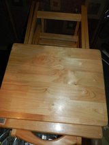 TV tray tables set of 4 in Livingston, Texas