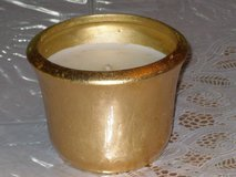 candle in gold pot 3-1/2h x 4-1/2w in Bolingbrook, Illinois