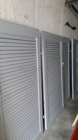 XL Shutters. Lt Gray, sunny Yellow.  Blue sold but still have some paint left. in Ramstein, Germany