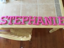 """Stephanie"" Painted Wooden Letters in Chicago, Illinois"