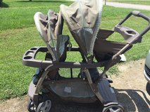 Graco double sit/stand stroller in Fort Campbell, Kentucky