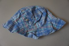 Boys Ralph Lauren Blue Plaid Infant Hat in Naperville, Illinois