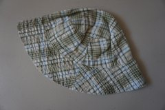Boys Green/Tan Plaid Infant Sun Hat Size 6-9 Months in Naperville, Illinois