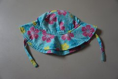 Girls Wee Wave Blue Flower Infant Sun Hat Size 13-22 lbs in Chicago, Illinois