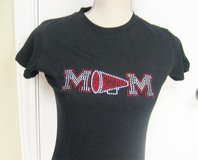 NWOT-Cheer-MOM-Black-Red-Fitted-T-Shirt-Sm-Megaphone-... in Kingwood, Texas