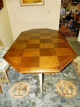 CHECKER DESIGN DINING TABLE with 6 HERITAGE CHAIRS in Byron, Georgia