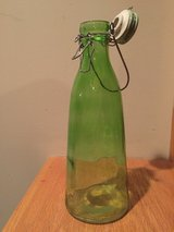 Green Glass Bottle Decor in Oswego, Illinois