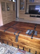 Solid wood livingroom table with storage in Ramstein, Germany