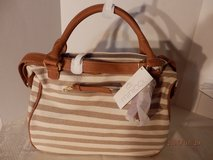 Brand New Taupe Strip Handbag in Naperville, Illinois