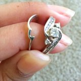 Engagement ring set with diamonds in Vista, California