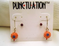 NWT Punctuation Red White Blue USA Drop Dangle Hook Dainty Cute Fashion Earrings in Houston, Texas