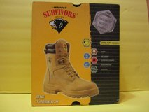 Brand New Tan Leather Mens Work Boots Shoes Steel Toe Herman Survivors - The Woodlands in Conroe, Texas