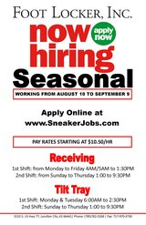 Now Hiring Seasonal Warehouse Workers in Fort Riley, Kansas