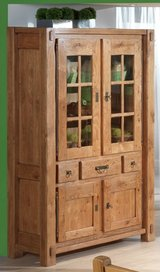 Solid Oak China Cabinet in Ramstein, Germany