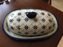 NEW Polish Pottery Bread Keeper 2 pieces in Lackland AFB, Texas