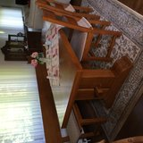 Solid wood table set, bench and 4 chairs, purchased from MK Kring, excellent condition. in Ramstein, Germany