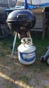Grill and gas bottle in Fort Drum, New York