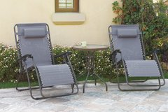 3 PC PATIO LOUNGE SET ONLY in San Bernardino, California