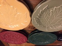 Longaberger Falling Leaves pottery - 8 plates in Lackland AFB, Texas