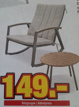 Brand new modern indoor/outdoor cushioned  rocking chair + table set in Ramstein, Germany