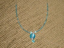 "new 15"" blue bead necklace in Aurora, Illinois"