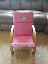 Princess wooden cushion chair pink in Naperville, Illinois