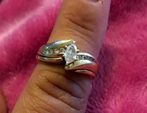 Engagement ring and wedding band set in DeRidder, Louisiana