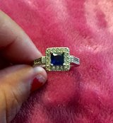 Sapphire and diamond white gold ring in DeRidder, Louisiana