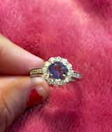 Silver tanzanite and diamond ring in DeRidder, Louisiana