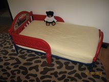 Toddler bed with mattress, Cars theme in Wheaton, Illinois