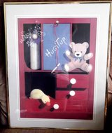 Framed Picture Red Dresser Bear Ducky in Aurora, Illinois