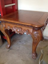Antique vintage french carved rustic side table, end table, night stand or coffee table in Oswego, Illinois