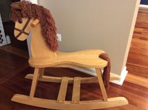 Wooden rocking horse in Aurora, Illinois