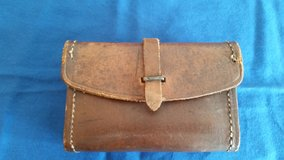Small leather ammo pouch est from WW2 era in Camp Lejeune, North Carolina