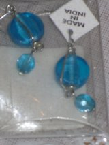 new round blue earrings in Lockport, Illinois