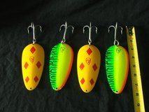 4 Huskie-Devle Huge Muskee Daredevil Fishing Lures in Naperville, Illinois