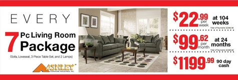 7 Piece Living room sets in Mountain Home, Idaho