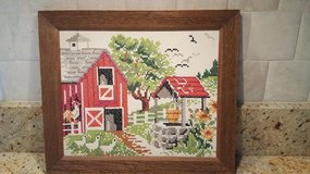 Cross Stitch Farm Scene in Aurora, Illinois