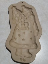 Brown Bag Cookie Art Mold Kris Kringle Santa 1996 Hill Design in Sandwich, Illinois